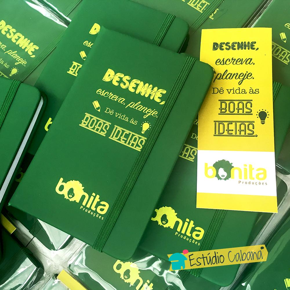 Kit Ideias no Papel - Caderneta com Marca Página